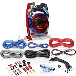 BOSS Audio Systems KIT10 4 Gauge Amplifier Installation Wiring Kit - A Car Amplifier Wiring Kit Helps You Make Connections...