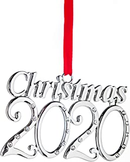 Best Klikel Christmas Ornament 2020 - Silver Christmas Ornament - Ornament 2020 - Holiday Tree Decoration with Red Tie Ribbon - 2nd Annual Christmas Edition Review