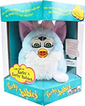 Tiger Electronics Furby Baby Model 70-800 Electronic Talking Sleeping Animated Toys Vintage Rare Collectible 1999 (Baby Blue)