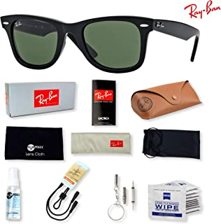 8fcb5d0fba7 Ray-Ban RB2140 Original Wayfarer Sunglasses for Men and Women with Deluxe  Eyewear Accessories