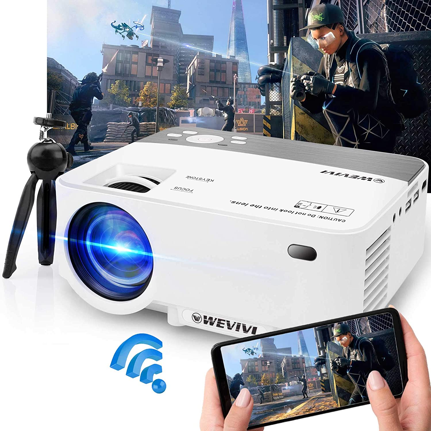 WiFi Projector Mini Movie Supported 1080P 5500Lumen Special price for a limited Ranking TOP12 time