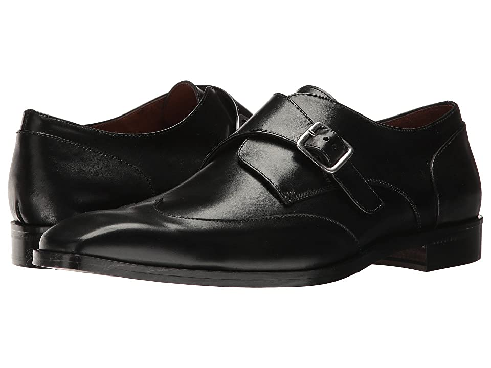 Massimo Matteo Single Monk Wing Tip (Black) Men