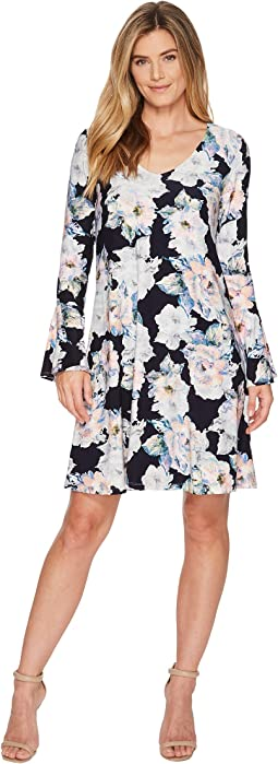 Karen Kane Flare Sleeve Taylor Dress