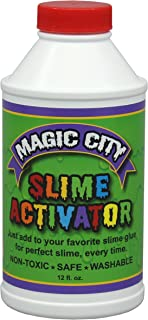 Magic City Slime Activator - Non Toxic, Just Add to Your Favorite Glue for Great Slime Every Time, Made in USA (12 Ounces)