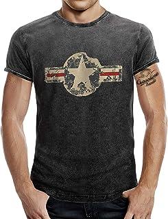 comprar comparacion Camiseta para el fan del ejército estadounidense con aspecto de vaqueros desgastados.