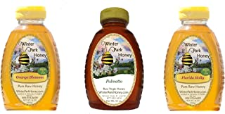 Winter Park Honey Florida Pack 48oz (Florida Holly, Palmetto and Orange Blossom Honey, 16oz each)
