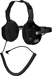 Noise-Reducing Behind The Head Racing Scanner Stereo Headset