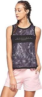 BodyTalk Women's MOODW Sleeveless Tank Top With Print, Black, X-Small