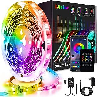 5m Led Strip, L8star Led Streifen Farbwechsel Led Lichterkette Clever Rgb Led Bänder Stripes mit Bluetooth und fern Kontro...
