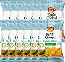 NEW Lay's Kettle Cooked Lightly Salted Jalapeno Potato Chips - 8oz (1)