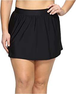 Miraclesuit Plus Size Solid Swim Skirt Bottom