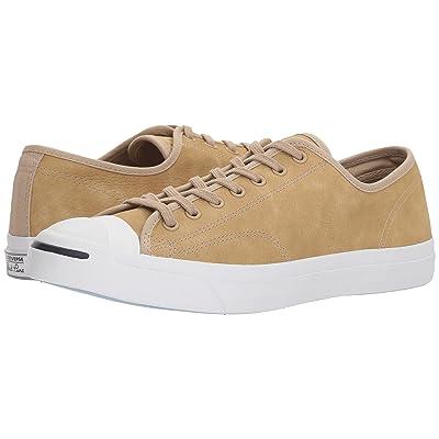 Converse Jack Purcell(r) Jack Washed Marble Nubuck Ox (Vintage Khaki/White/White) Shoes