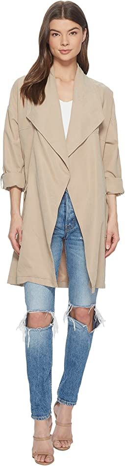 Abreila Drape Front Coat