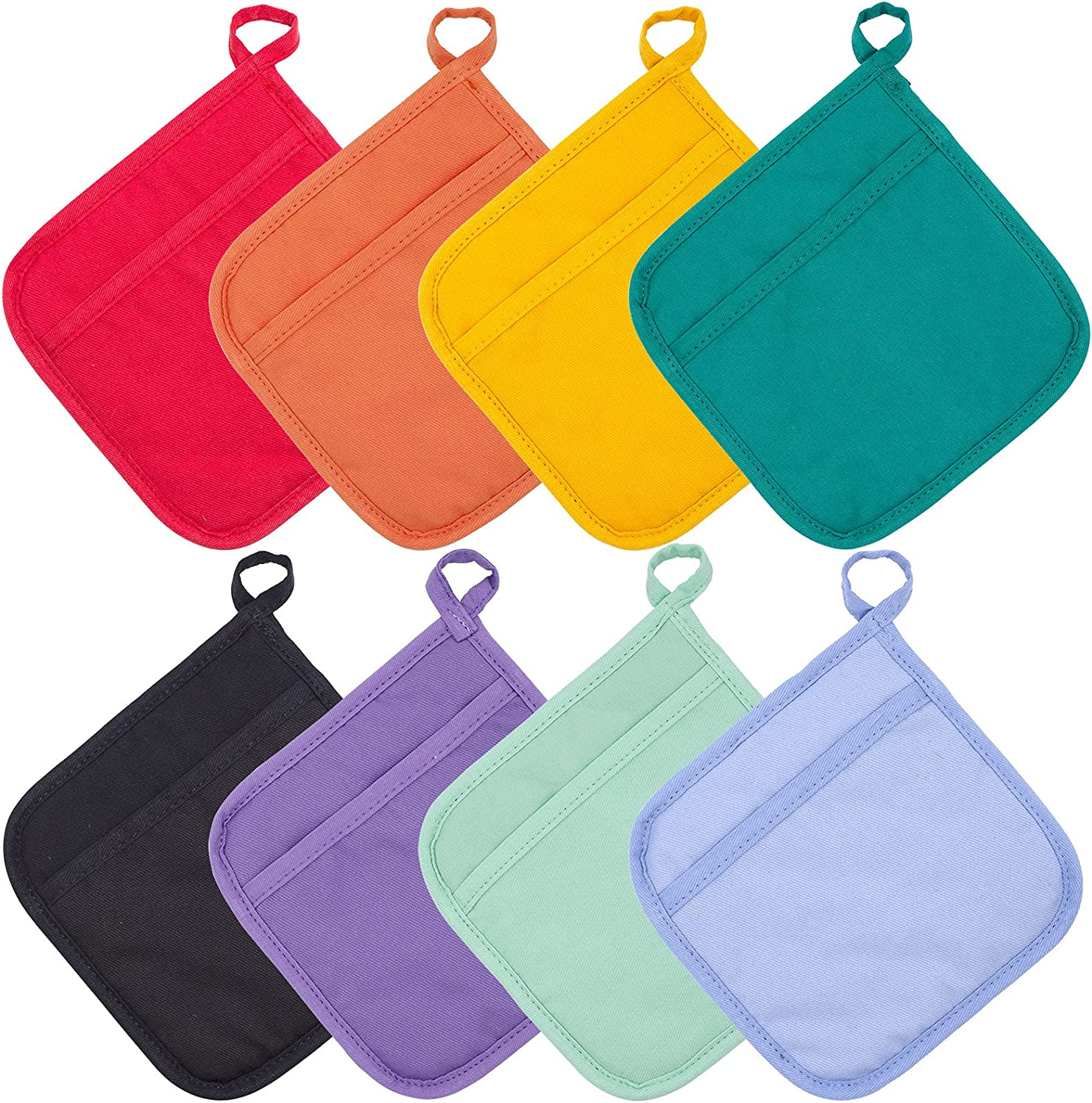Jehdhe Pot Holders with Pocket Pack Oven 8 Long-awaited Recommendation of Square Hold