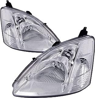 HEADLIGHTSDEPOT Compatible with Honda Civic Hatchback New Replacement Headlights Set Headlamps Pair