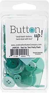 Button Up! Party Pack Buttons-Teal For Two