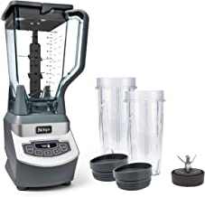 Ninja Professional Countertop Blender with 1100-Watt Base, 72 Oz Total Crushing Pitcher and (2) 16 Oz Cups for Frozen Drin...