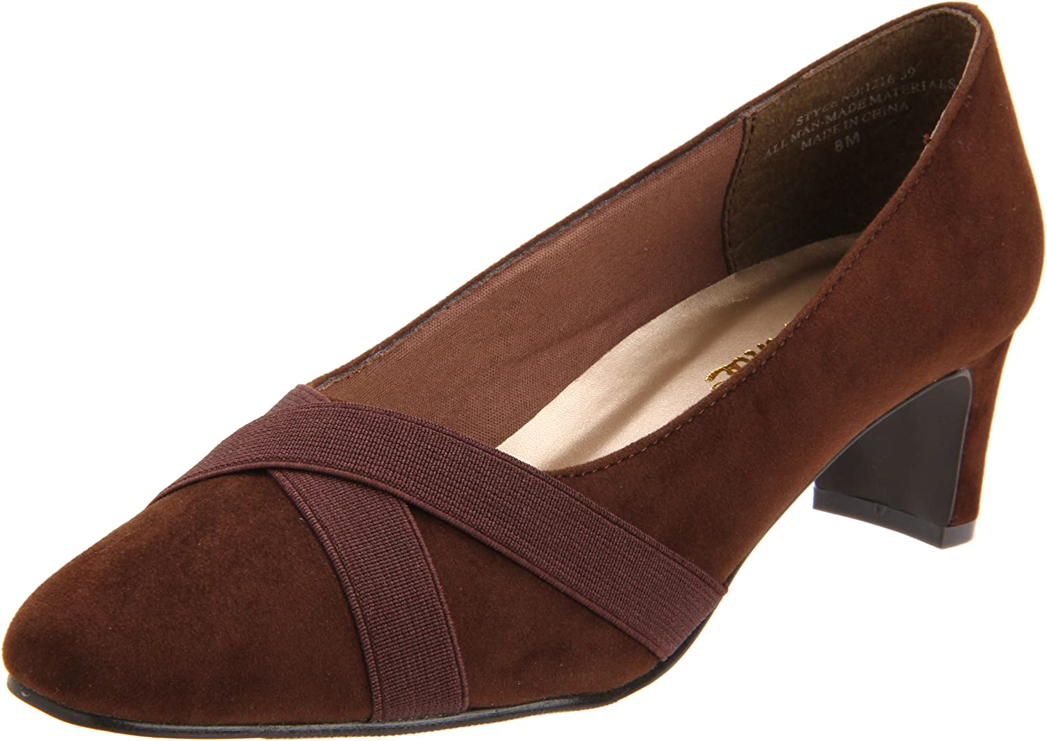 Annie shoes Women's Astor Pump,Brown,8 WW US