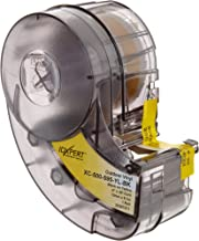 "Brady XC-500-595-YL-BK IDXPERT(TM) & LABXPERT(TM) Labels  B- 595 Indoor/Outdoor Vinyl Film Black on Yellow, Printable Area: 19.000"" W x 0.50"" H  1 roll (30ft.)/Cartridge"