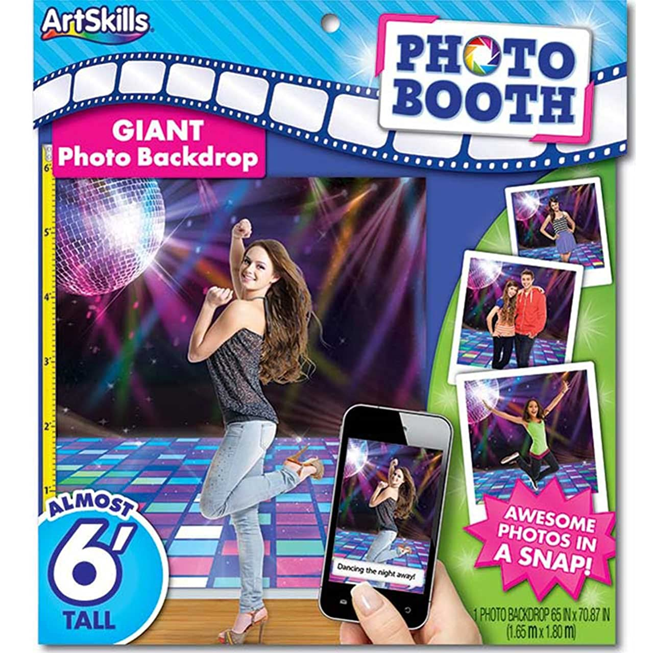 Artskills Photo Booth Backdrop 6Ft. Disco Party Decorations
