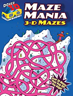 3-D Mazes--Maze Mania (Dover 3-D Mazes)