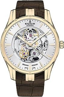 EDOX - Grand Ocean Reloj de Hombre automático 41mm Correa de Cuero 85301 37J Aid