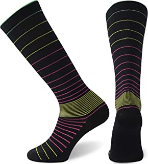 SuMade Compression Socks, Womens (15-20mmHg) Best Graduated Athletic Medical Travel Running Nursing Socks