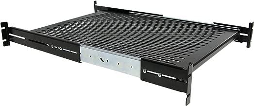 "StarTech.com 2U Sliding Server Rack Mount Shelf - Adjustable Mounting Depth - Vented - 50lb - Heavy Duty Universal 19"" Rack Shelf for Equipment Rack (UNISLDSHF19)"