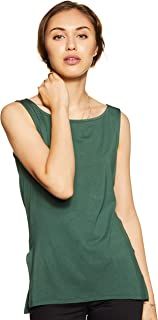 Amazon Brand - Symbol Women's Solid Regular Fit Sleeveless T-Shirt