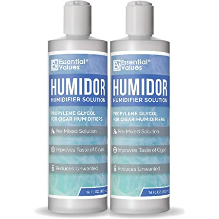 Humidor Solution, (2 Pack) 16oz Propylene Glycol For Cigar Humidifiers By Essential Values