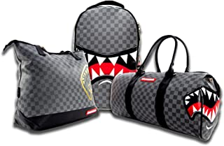 Sprayground Sharks in Paris Deluxe set (Duffle bag, Tote bag and Backpack) Checkered Design