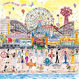 Galison Michael Storrings 500 Piece Jigsaw Puzzle for Families, Summer at The Amusement Park Scene, Great Family Puzzle to Enjoy Together