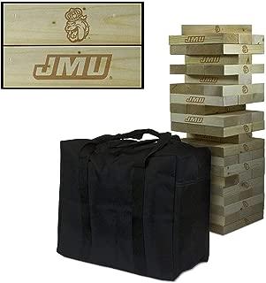 Victory Tailgate NCAA Giant Wooden Tumble Tower Game Set - James Madison University JMU Dukes