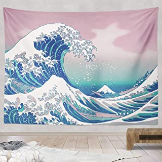 Jinxy Japanese Ukiyo-e Tapestry, Great Wave Kanagawa Tapestry, Hippie Psychedelic Tapestry, Abstract Retro Tapestry, Wall Hanging for Bedroom Living Room Dorm