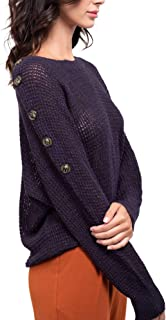 August Sky Women's Fall Casual Lightweight Sweater Jumper Top Pullover Long Sleeve Top