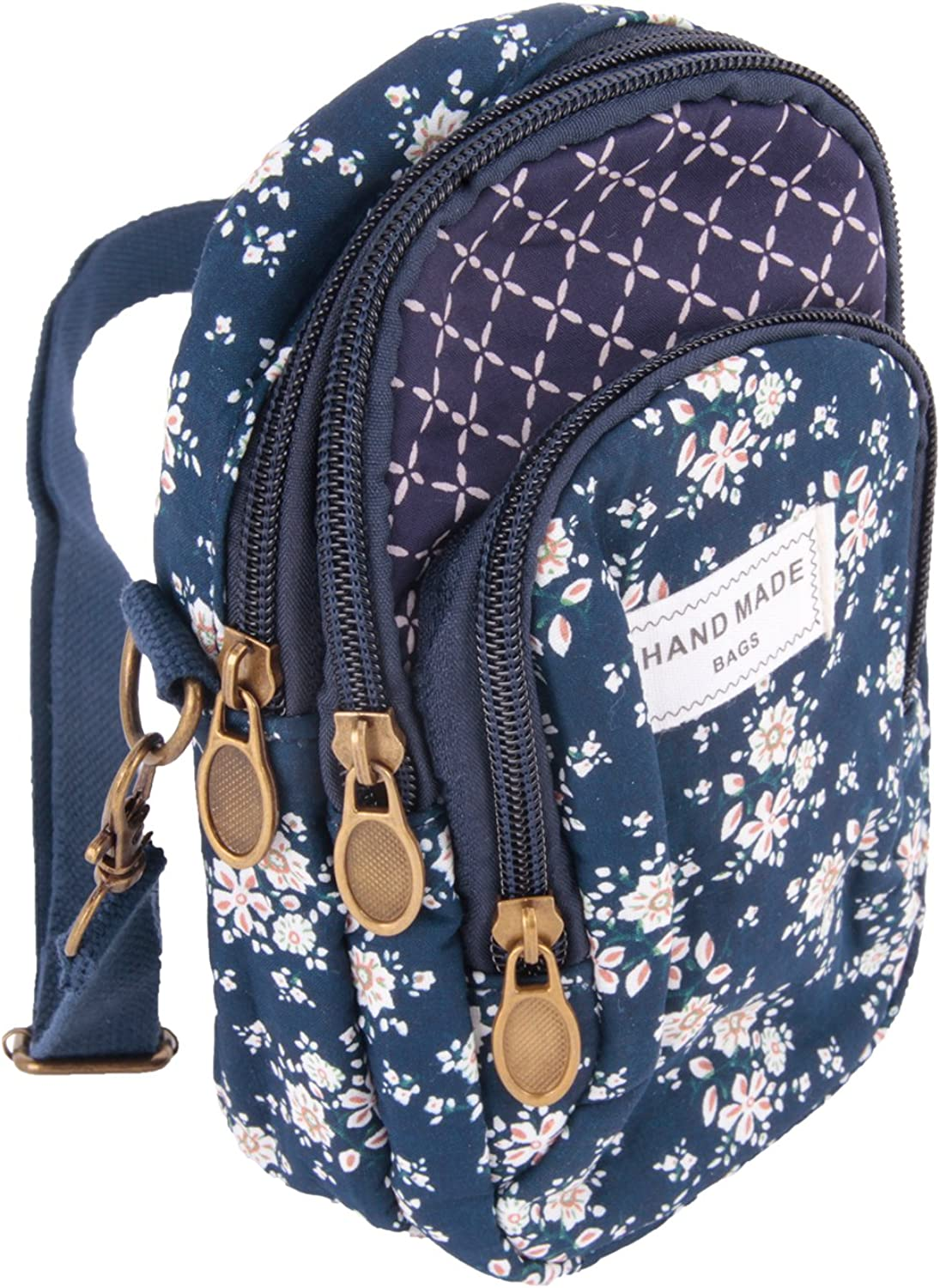 Floral Cotton Seasonal Wrap Introduction Small Crossbody Handbags Sales results No. 1 for Girls Women Multi Lay