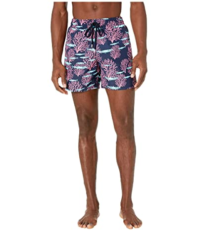 Vilebrequin Coral Fish Moorea Swim Trunks (Blue Marine) Men