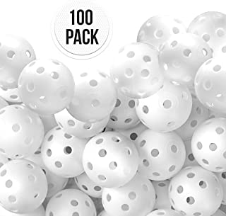 Practice Golf Balls Wiffle Ball Pack of Plastic Golf Training Balls | Hollow Wiffle balls For Driving Range, Swing Practice, Outdoor + Indoor Home Use, Putting, Lightweight Whiffle Balls