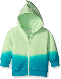 Rosie Pope Baby Boys'' Full Zip Quilted Jacket with 3D Hood Detail
