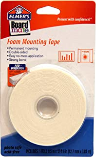 ELMERS Board Mate Foam Mounting Tape, 0.5 X 150