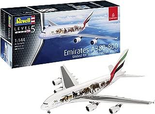 Revell-Airbus A380-800 Emirates Wild L, Escala 1:144 Kit de Modelos de plástico, Multicolor, 1/144 03882 3882