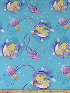 Disney Tinkerbell Petal Perfect Cameo Fabric Sold by the Yard