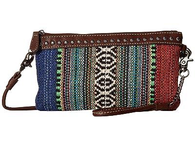 M&F Western Savannah Crossbody Belt Bag (Serape/Brown) Bags