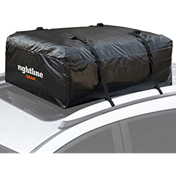 Rightline Gear Ace Jr Top Carrier, 9 cu ft Sized for Compact Cars, Weatherproof, Attaches With or Without Roof Rack