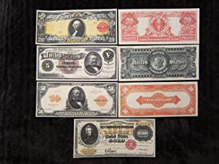 Gold and Silver Certificate X Large Copy Reprints 1886 $5 1905 $20 1913 $50 1917 $10,000