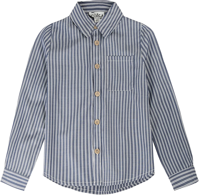 Boy Long Sleeve Plaid Button-Down Shirts Size 5-12 Little Boy Fall Outfit School