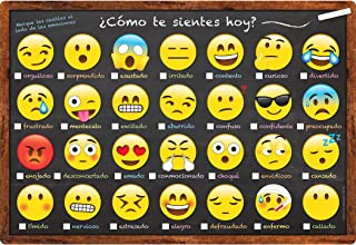 Ashley Productions ASH93604 Smart Poly Spanish Chart, Emoji How are You, Polypropylene (PP), 13