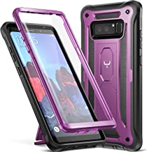YOUMAKER Kickstand Case for Galaxy Note 8, Full Body with Built-in Screen Protector Heavy Duty Protection Shockproof Rugged Cover for Samsung Galaxy Note 8 (2017) 6.3 Inch - Purple/Black