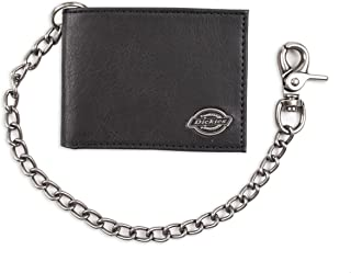 Dickies Men's Bifold Wallet-High Security with ID Window and Credit Card Pockets