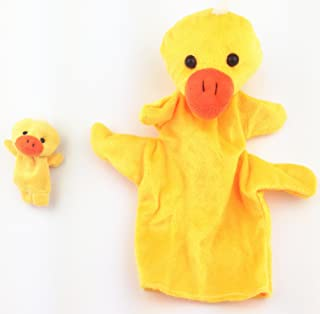 RayLineDo Two Size Ducks Sock Glove Soft Cute Hand Finger Puppets Sack Plush Toy Kids Entertainment